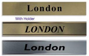 Bespoke Office Door Sign Room Name Brass Effect Plate